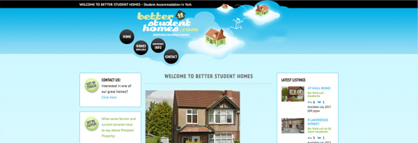 Website rebuild for Better Student Homes