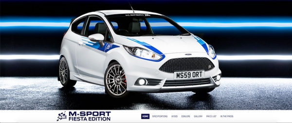 New website for the M Sport Fiesta Special Edition