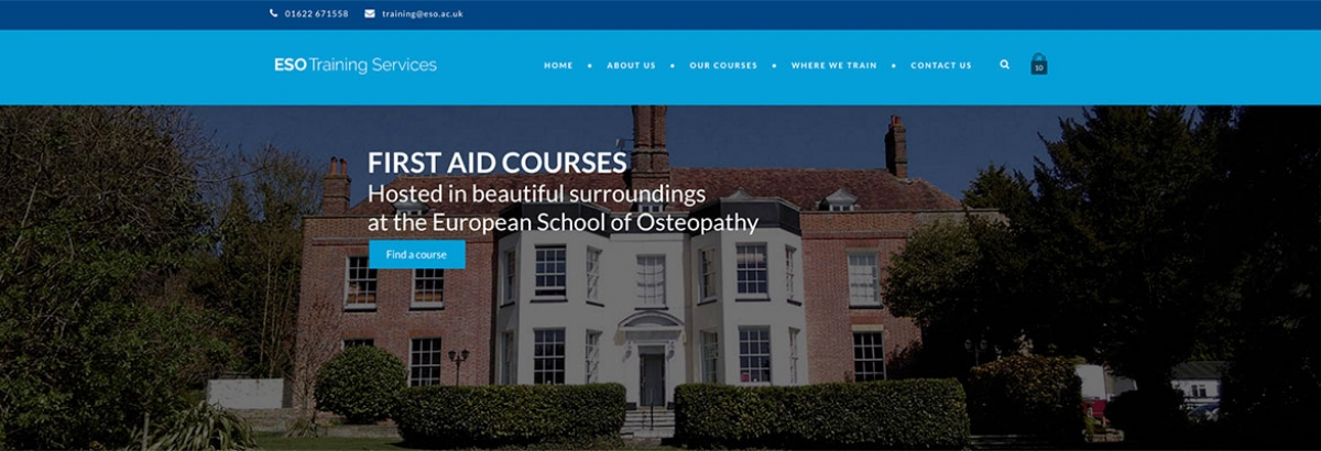 New website build for ESO Training Services