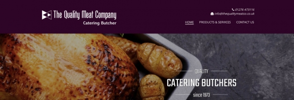 The Quality Meat Company website design and build