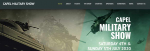 Capel Military Show bespoke design website build