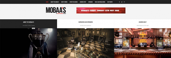 MOBAA Awards website build