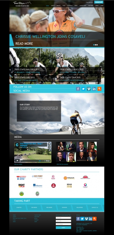 Website maintenance services for a cycling event company