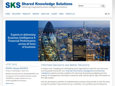 New Joomla website for corporate business intelligence company