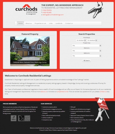 Property website with feed from CFP Premise / Vebra software