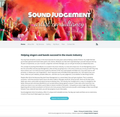 New website for music artist consultancy goes live